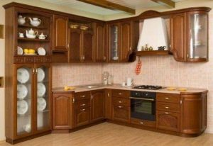 Kitchen Set Sudut Lemari Kaca