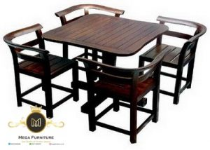 Kursi Makan Cafe Minimalis Kayu Jati Model Terbaru