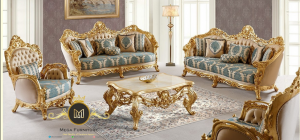 Set Sofa Tamu Gold