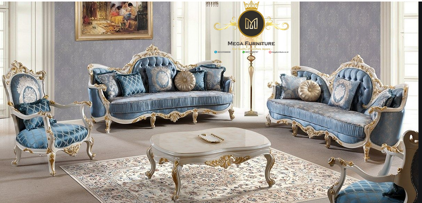 Set Sofa Tamu Mewah Ukir