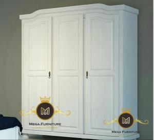Lemari Pakaian 3 Pintu Putih