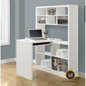 Meja Kantor Minimalis Kayu Jati Mewah