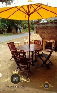 Meja Payung Kayu Jati Minimalis Modern