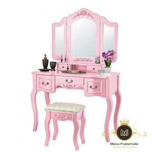 Meja Rias Pink Model Terbaru