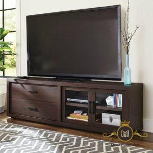 Rak TV Jati Minimalis Model Modern