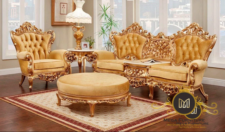 Sofa Tamu Ukir Gold