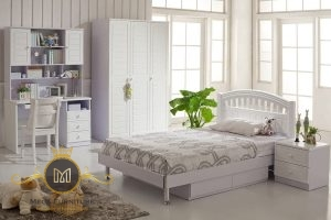 Classic Children Bedrooms White Listed Furniture