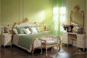 Italian Luxury Antique Gold Reaf Bedroom Set