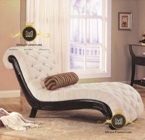 Kursi Sofa Minimalis Black White