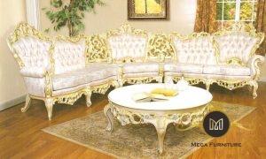 Kursi Sofa Tamu Mewah Gold