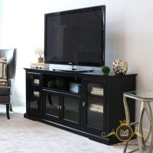 Meja TV Minimalis Warna Hitam
