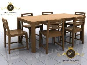 Meja Makan Cafe Minimalis Jati