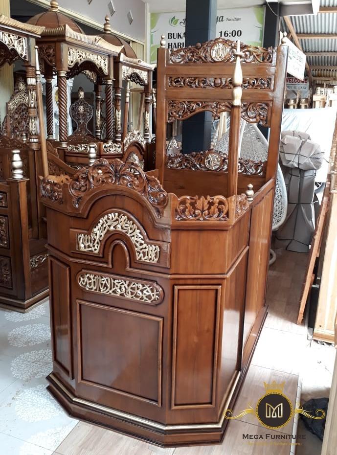 Mimbar Masjid Ukir Kayu Jati, Mimbar Masjid Minimalis Modern, Mimbar Masjid Jati, Mimbar Jati, Mimbar Jati Minimalis, Mimbar Pengajian, Mimbar Pondok, Mimbar Jepara, Mimbar Masjid Modern, Mega Furniture