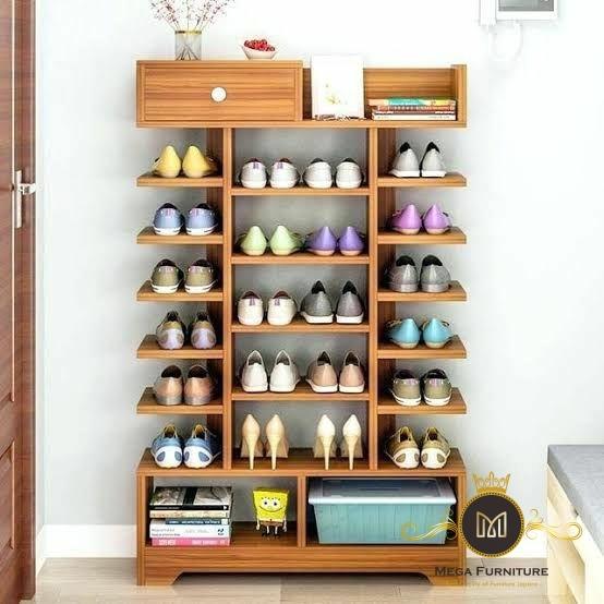 Rak Sepatu Minimalis Klasik Jati Jepara Mega Furniture