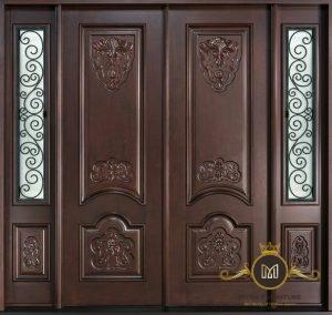 Pintu Minimalis Ukir Jati Jepara