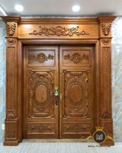 Pintu Rumah Model Mewah Kayu Jati Jepara