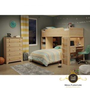 Set Tempat Tidur Anak Kayu Jati Solid