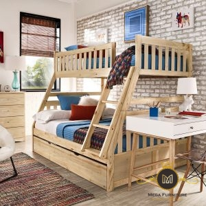 Set Tempat Tidur Anak Kayu Jati
