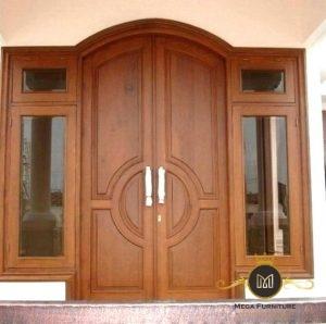 Pintu Jati Dua Daun Modern