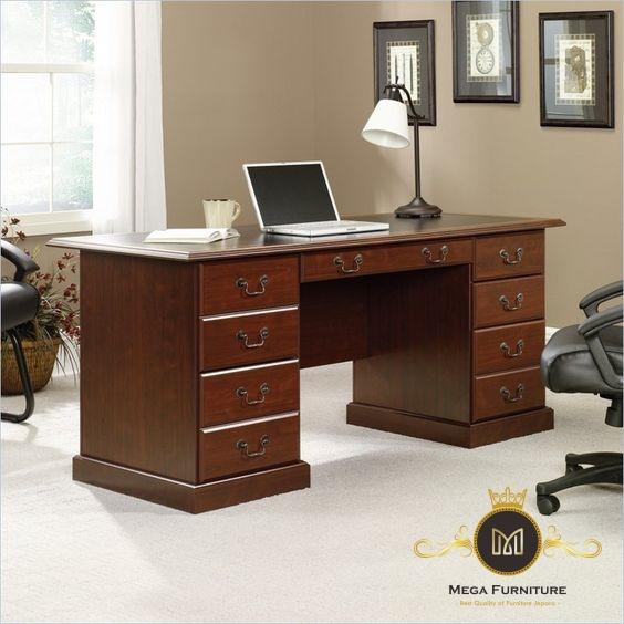 Meja Kantor Minimalis Jati Klasik