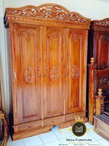 Almari Rahwana 3 Pintu Kayu Jati