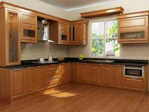 Kitchen Set Modern Kayu Jati