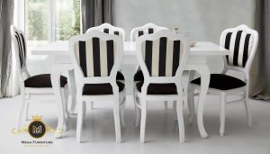 Set Kursi Makan Hitam Putih