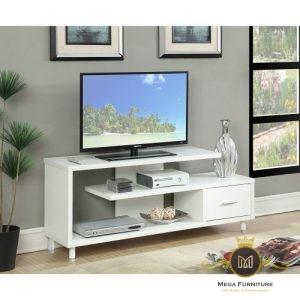 Bufet TV Model Simple Warna Putih