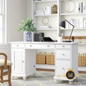 Meja Kerja Midland Minimalis Putih Terbaru