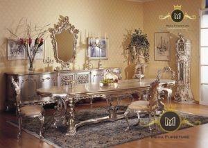 Set Kursi Makan Klasik Model Eropa