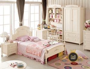 Korean Style Children Bedroom Furniture for Solid Wood