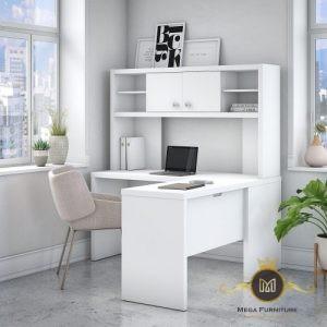 Meja Kerja Kantor Warnah Putih