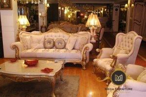 Sofa Tamu Ukir Keong Mewah