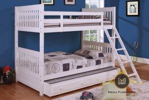 Tempat Tidur Anak Model Minimalis Tingkat Putih