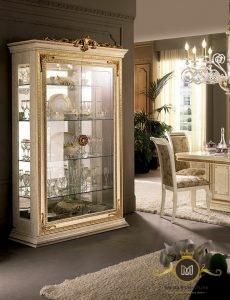 Lemari Hias White Klasik Modern