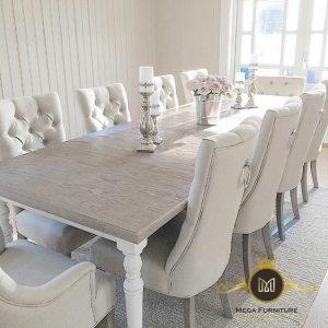 Meja Makan Modern Kayu Elegant