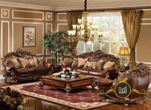 Set Kursi Sofa Tamu Ukir Mewah
