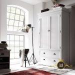 Lemari Pakaian Minimalis Putih 2 Pintu Modern