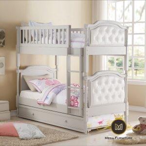Tempat Tidur Tingkat Jati Minimalis Maryjo