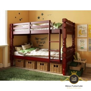 Tempat Tidur Tingkat Kayu Genaro