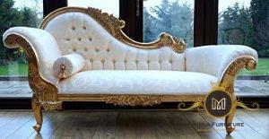 Kursi Sofa Louis Ukiran Gold