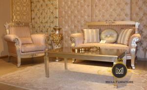 Kursi Sofa Tamu Gold Jati Terbaru