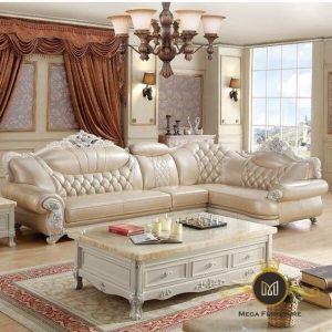 Sofa Sudut Ukir Modern